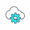 cloud, computing, data, network, service icon