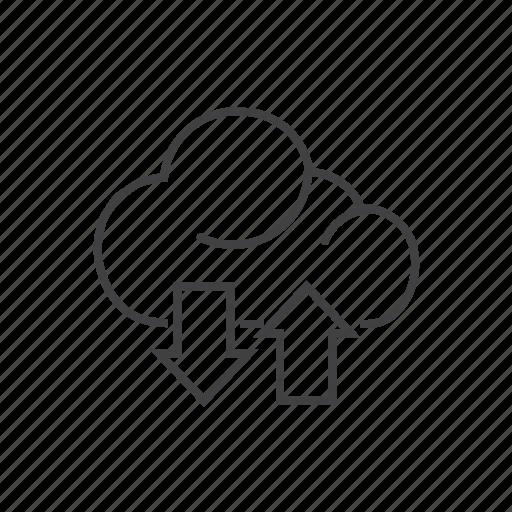 cloud, computing, database, storage, upload icon