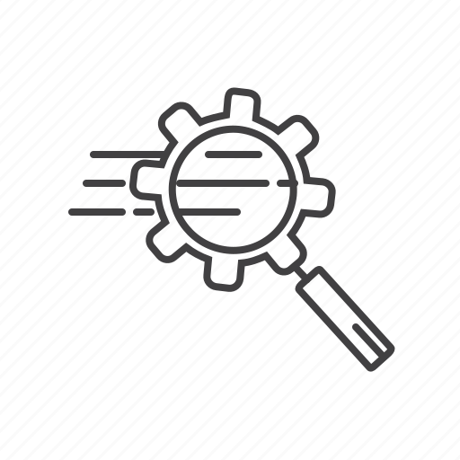 business, finance, keywords, magnifying, search, seo icon