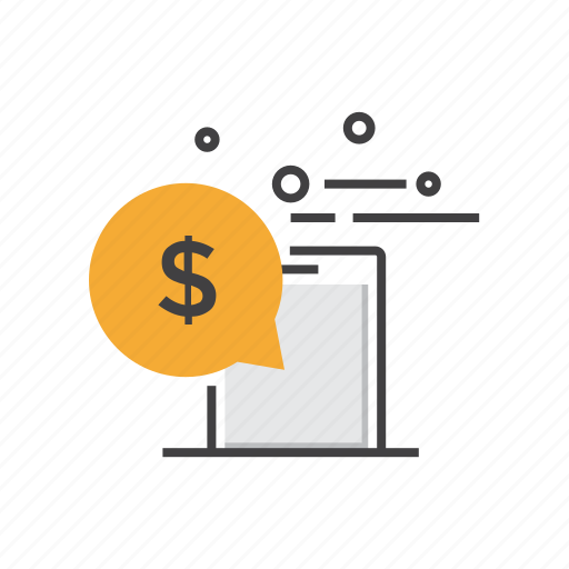 finance, mobile, money, payment, phone, smartphone icon