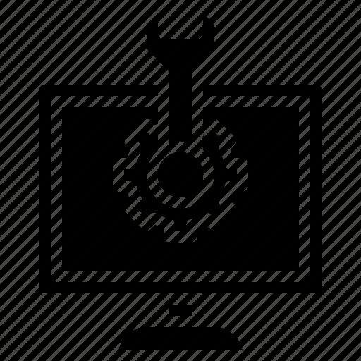 customer, gear, man, repair, repairing, service, settings icon