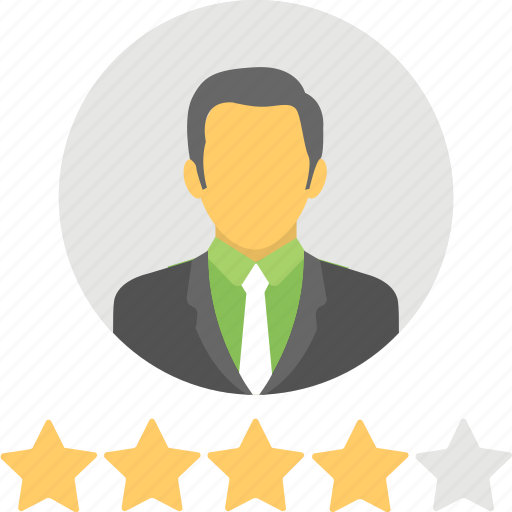 feedback, five pointed, rating, review, testimonial icon