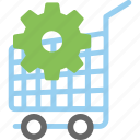 e commerce service, ecommerce, ecommerce solution, emarketing, shop cart preferences icon