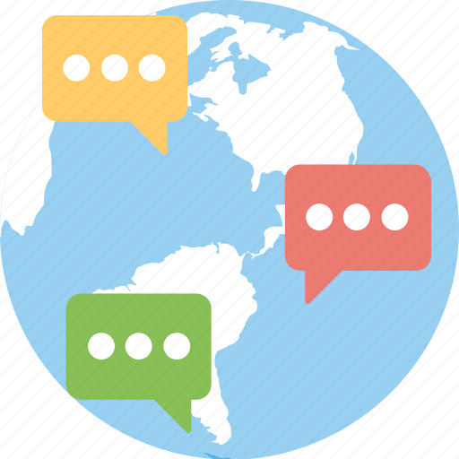 global business, global communication, information technology, international trade, worldwide business icon