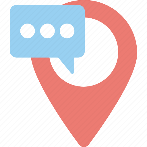 chat point, forum pointer, location chat, place chat, search chat icon