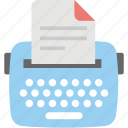 content, content writing, copywriting, seo, typewriter icon