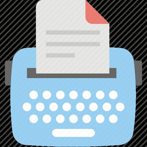 content, content writing, copywriting, seo, typewriter icon