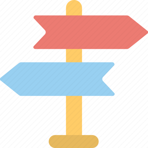 Direction, direction post, finger post, guidepost, signpost icon - Download on Iconfinder