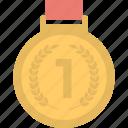 achievement, first place, first rank, medal, winner