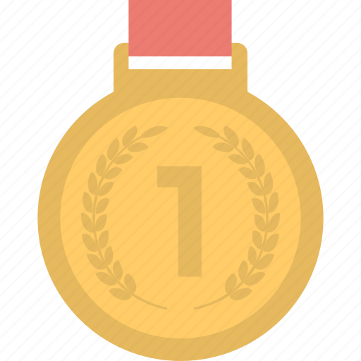 achievement, first place, first rank, medal, winner icon
