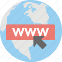 browsing, domain, internet connection, url, www icon