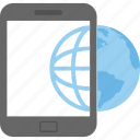 internet connection, mobile browsing, mobile data, mobile internet, smartphone icon