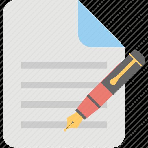 article marketing, blog management, blogging, content writing, copywriting icon