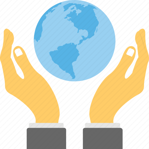 all around world, discover the world, globalization, globe hand, hand business icon