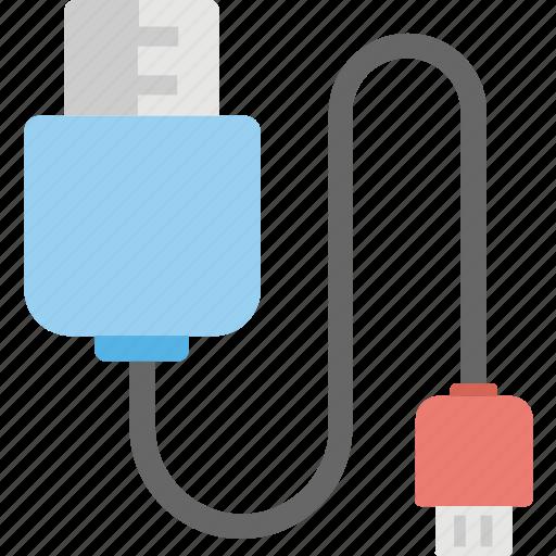data cable, usb cable, usb connector, usb cord, usb plug icon