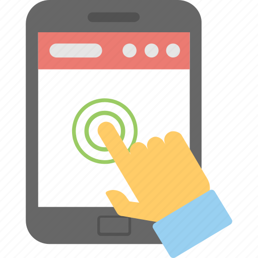 Biometric, finger scanning, smartphone, technology, touchscreen icon - Download on Iconfinder