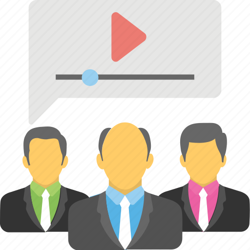 affiliate marketing, online communication, video call, video chat, video conference icon