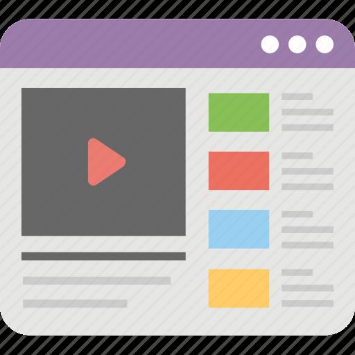 media, multimedia, online streaming, online video, video marketing icon