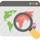 find location, geography, global search, online location, search location icon