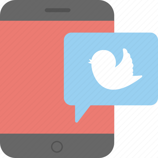 mobile app, social media, social network, tweet, twitter icon