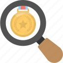 achievement exploration, creative vision, leader magnifier, medal magnifying, search quality icon
