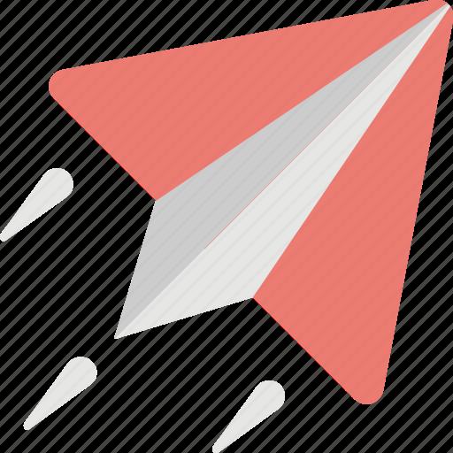 handmade plane, message, message sending, paper plane, startup icon