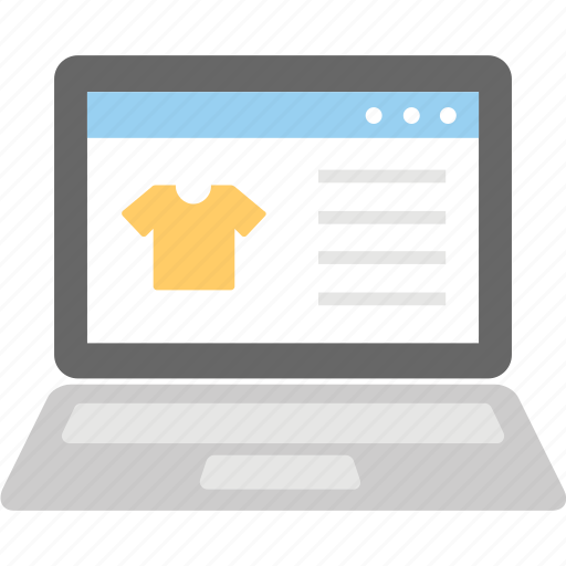 ecommerce, fashion website, online shopping, online store, shopping website icon