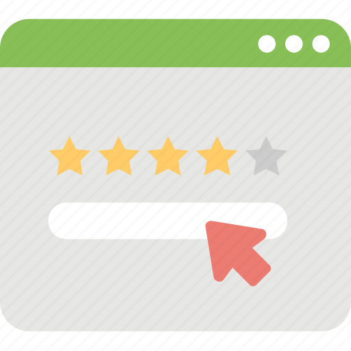 five pointed, quality feedback, ranking, rating, review icon