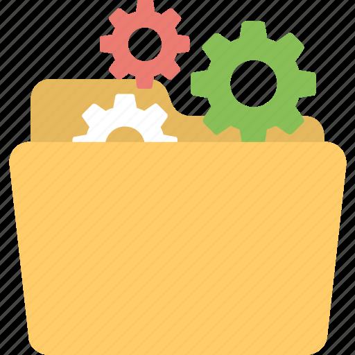 data development, data processing, folder, folder setting, product development icon