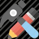 creativity, genius, hammer pencil, imagination, invention