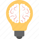 bright idea, bulb mind, creative idea, genius, intelligent icon