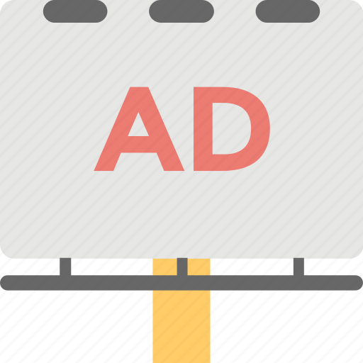 ad board, advertising, billboard, promotion, road advertising icon