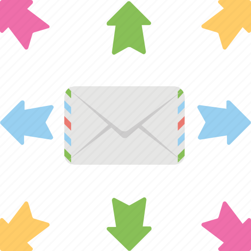 email marketing, email message, emailing, online communication, online mailing icon