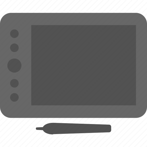 digitizer, drawing pad, drawing tablet, graphic designing, pen tablet icon
