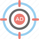 ads, marketing, online advertising, publicity, targeted advertising icon