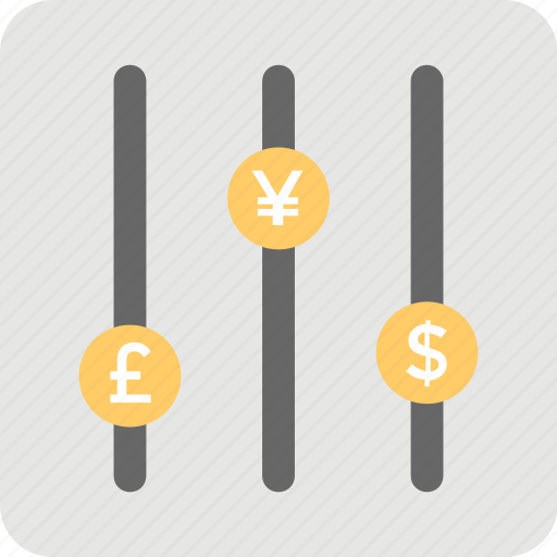 conversion, converter, currency, currency comparison, currency conversion, currency rates, equalizer icon