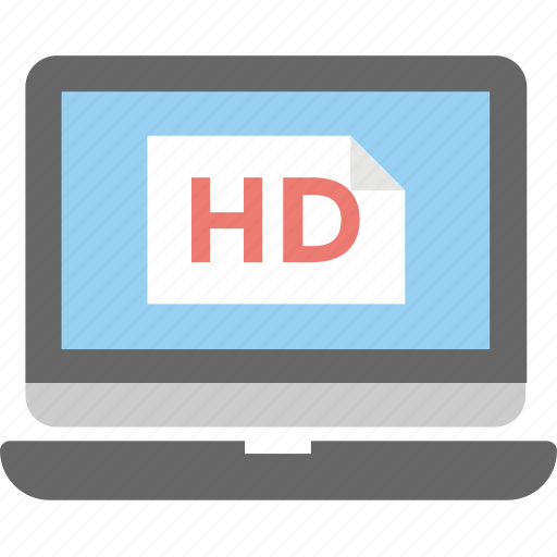 hd screen, hd video, high definition, high resolution, technology icon