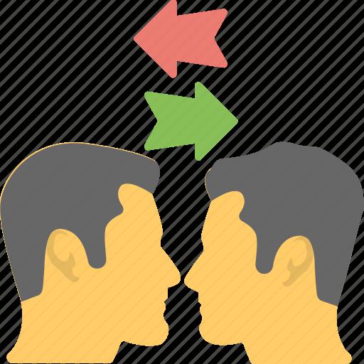 collaboration, communication, discussion, interaction, talk icon