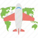 airplane, aviation, travel, world tour, world trip icon