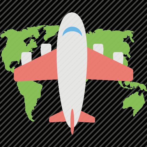airplane, aviation, travel, world tour, world trip icon