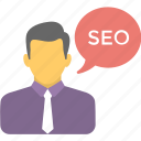 expert advice, freelancer, seo consultant, seo expert, seo specialist icon