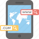 .com, browsing, domain, mobile internet, www icon
