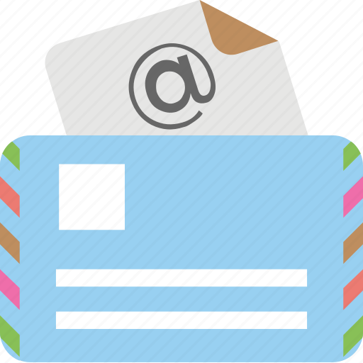 airmail, communication, correspondence, email, message icon