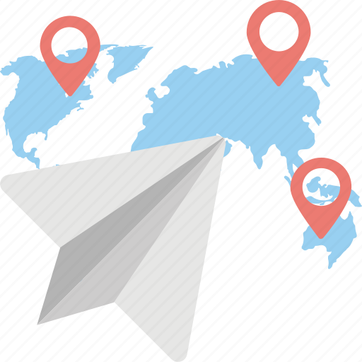 global correspondence, global emailing, location marker, map location, map pin icon