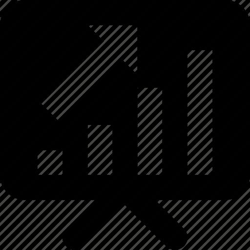 bar graph, business, chart, easel, presentation icon