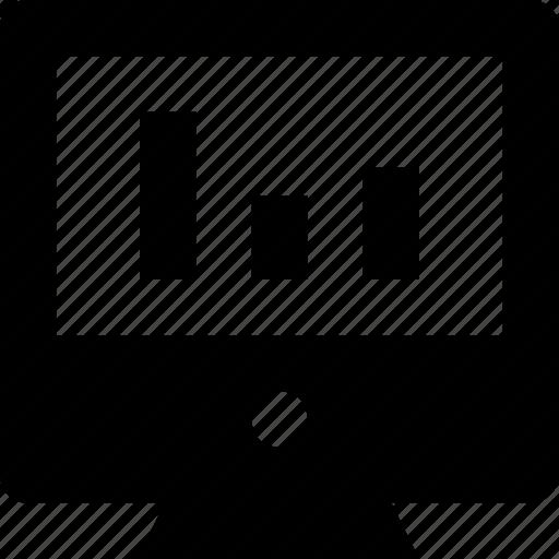 bar graph, graph, monitor, online graph, seo graph icon