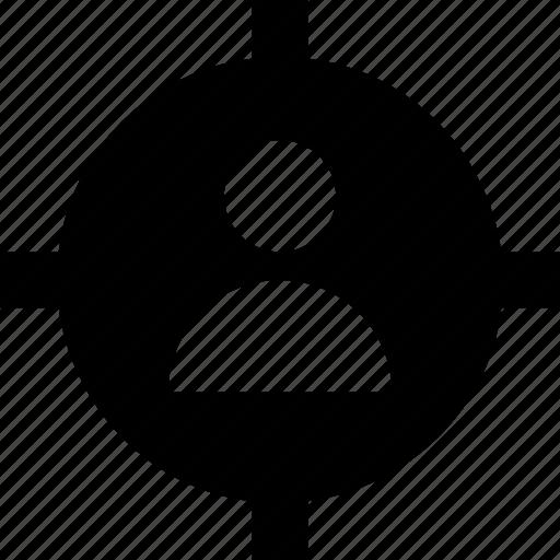 aim, crosshair, focus, target, user target icon