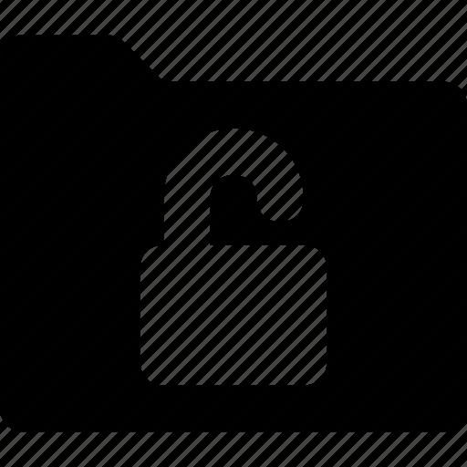 access, folder, folder protection, locked, protection icon