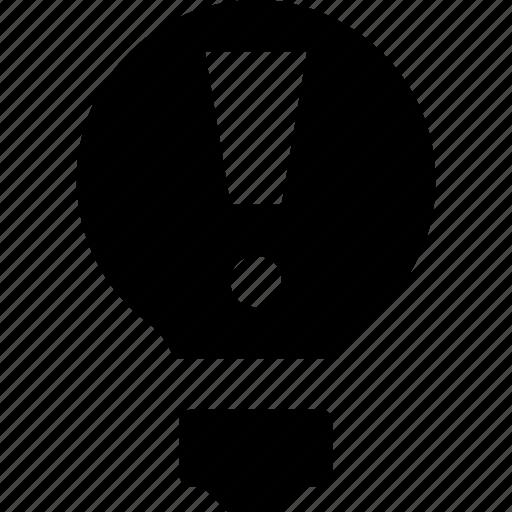 alert, attention, bulb, idea, idea alert icon