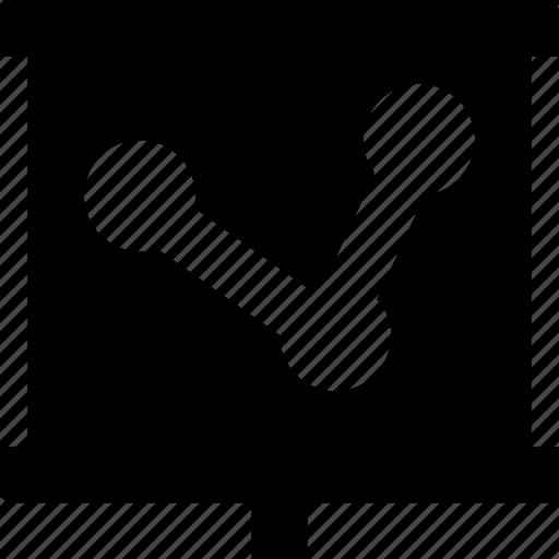 flipchart, graph, line chart, line graph, presentation icon